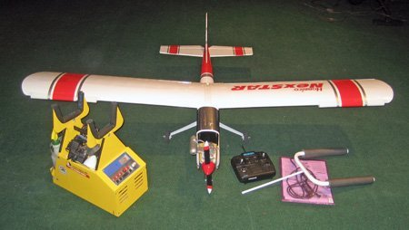 Hobbico gas powered model scale airplane