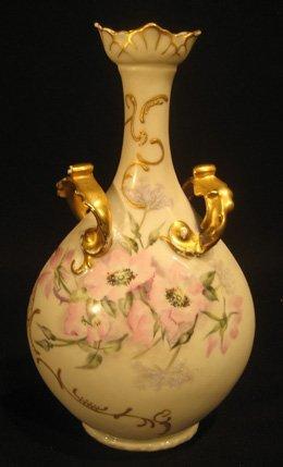 Limoges porcelain two-handled vase