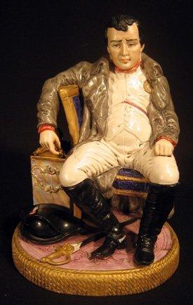 Glazed pottery figure of Napoleon