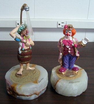 Two limited edition Ron Lee clown figurines