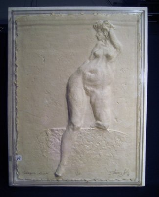 SignedTom Lytle ltd edition paper form of nude woman