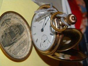 Antique Elgin 14k Gold Filled Pocket Watch w/Papers