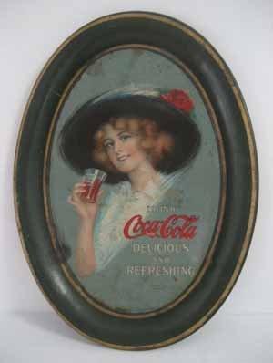 Rare 1912 Coca-Cola Advertising Tip Plate / Tray