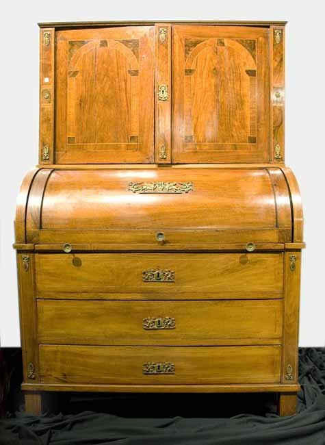 Antique Mid 18th Century Continental Cylinder Desk