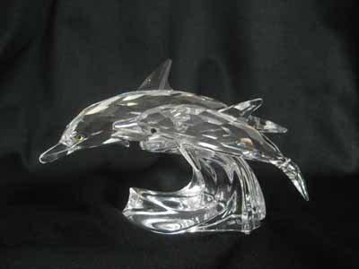 "Swarovski Crystal figurine, SCS 1990 ""Lead Me"""
