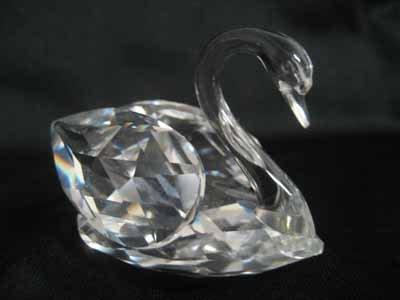 "Swarovski Crystal figurine #7633 050 000, ""Swan"" medium"