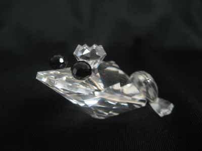 "Swarovski Crystal figurine #7642 048 000, ""Frog Prince"""