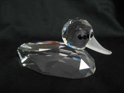 """Swarovski Crystal figurine #7647 080 000, """"Mallard"""""""