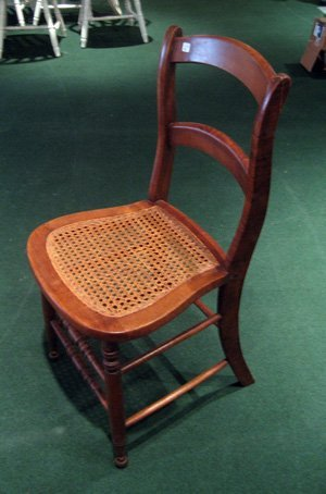 Mixed Wood Side Chair w/ Caned Seat