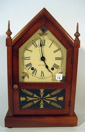 Seth Thomas Mahogany Cased Steeple Clock