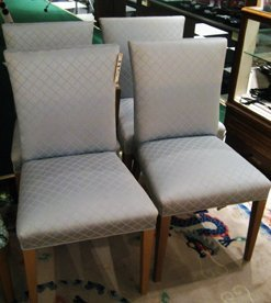 8 T.H. Robsjohn-Gibbings Dining chairs by Widdicomb