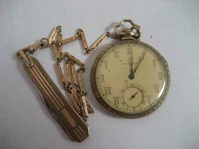 South Bend open face pocket watch