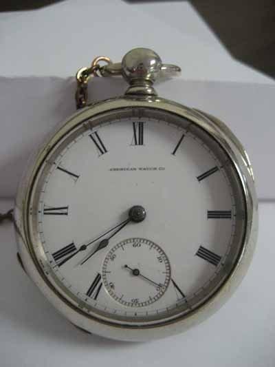 American Watch Co. open face pocket watch