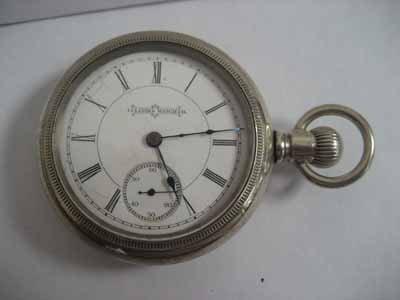 Illinois Watch Co. open face pocket watch
