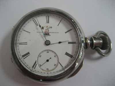 Elgin Watch Co. open face pocket watch