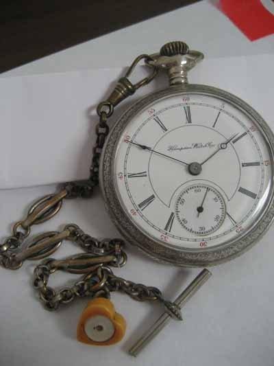 Hampden Watch Co. open face pocket watch