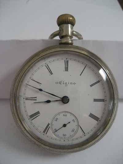 Elgin open face pocket watch,.