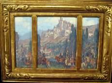 "Triptych ""Fantasy Landscape"""
