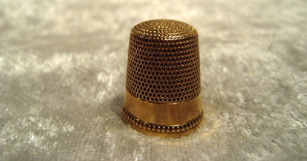 10Kt Yellow Gold Thimble