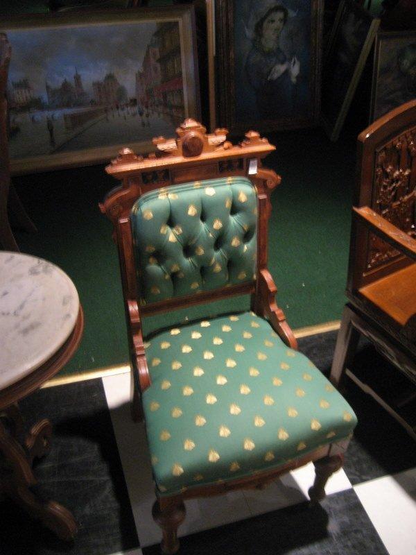 Victorian Walnut and Burlwood Side Chair