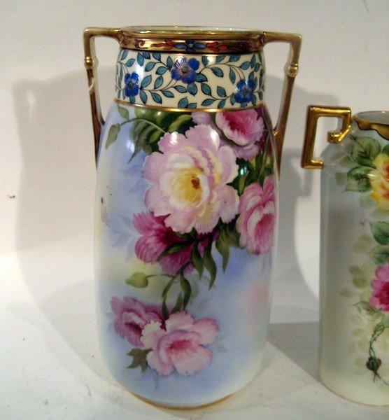 2 Hand Painted Vases: Noritake & C.T. Altwasser Silesia - 2