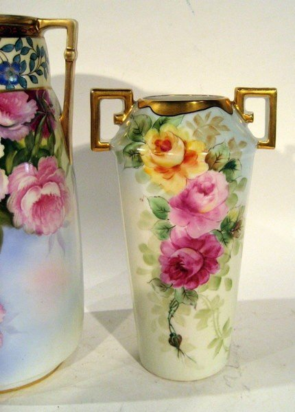2 Hand Painted Vases: Noritake & C.T. Altwasser Silesia - 3