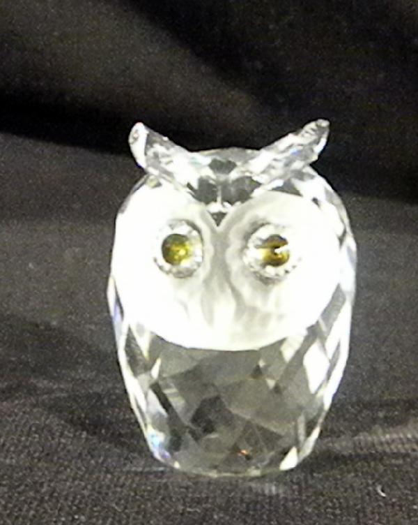 Swarovski Owl in Glass Display Dome