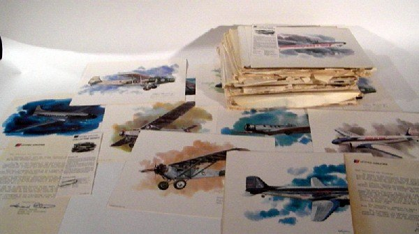 28 Vintage Plane Prints - United Airlines & more