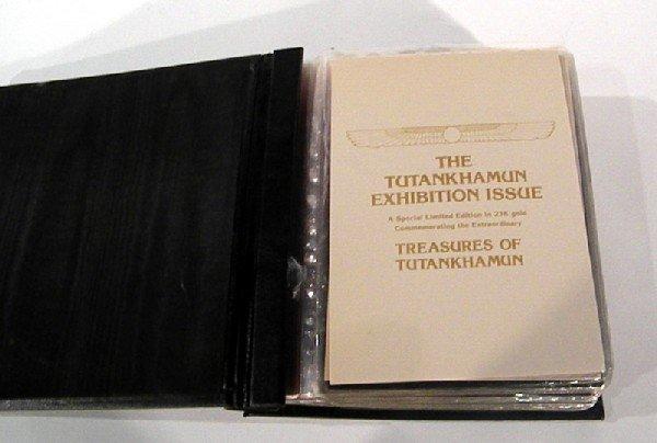 "23Kt Gold Stamps Issue "" The Tutankhamun Exhibition"""