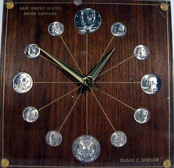 1964 Marion Kay Clock, Model #72 w/US Silver Coins