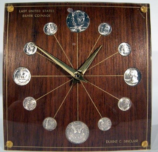 1964 Marion Kay Clock, Model #72 w/US Silver Coins - 2