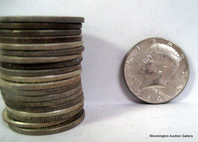 20 U.S. 1964 Kennedy Half Dollars - 250 grams