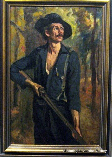 """Henry Mosler Original """"The Mountaineer"""" of Syd Hatfield"""