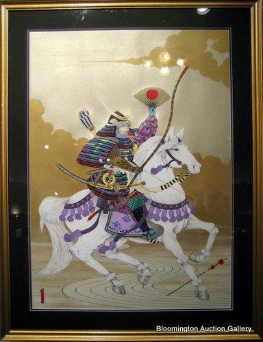 """Gary Hostallero """"White Horse Shogun"""", Signed & Framed"""