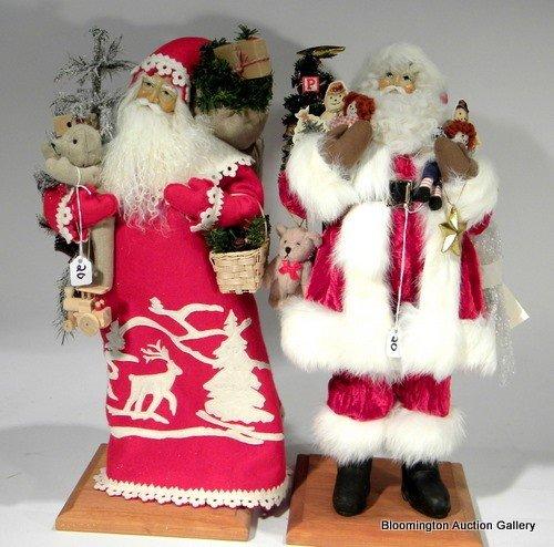 2 Lynn Haney Santas - Ho Ho Ho, Santa of Deer Valley