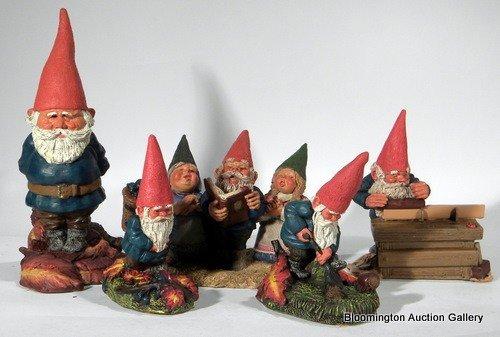5 Enesco Gnomes: Tobias, Gabriel, Audrey Tom & I, .....