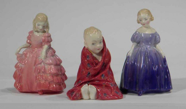 3 Royal Doulton Figurines: Rose, Marie & Little Pig