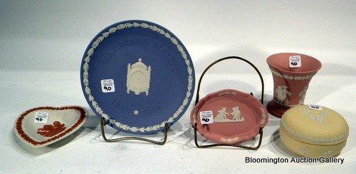 5 Wedgewood Jasperware Items - 2 signed Lord Wedgwood