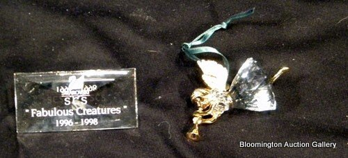 2 Swarovski Crystal Items: Ornament, Fabulous Creatures