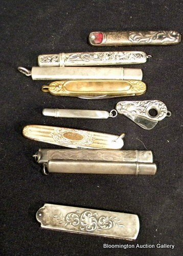 5 Sterling Silver Victorian Pencils, ect....