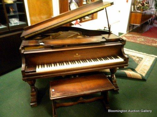 Straube Baby Grand Piano in Walnut Case