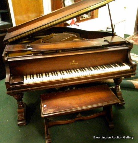 Straube Baby Grand Piano in Walnut Case - 2