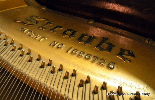 Straube Baby Grand Piano in Walnut Case - 4