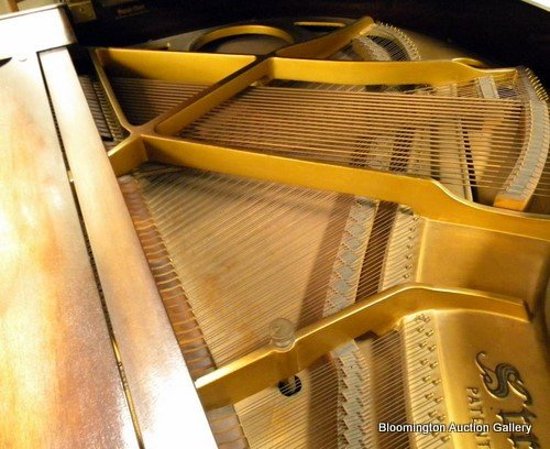 Straube Baby Grand Piano in Walnut Case - 5