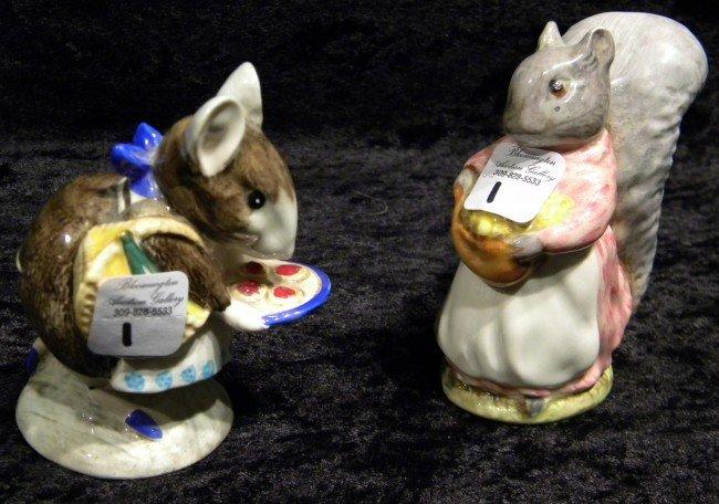 2 Beswick Beatrice Potter Figurines