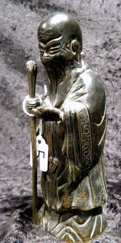 Bronze Figurine of Fuku Ruku, Vintage