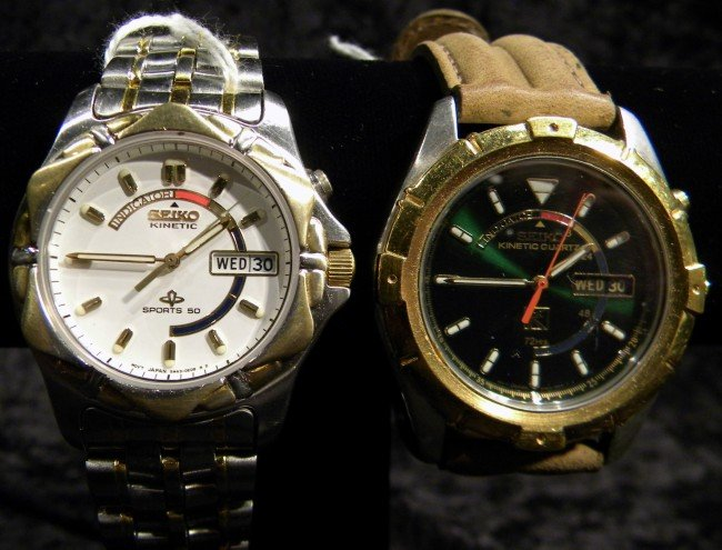 2 Seiko Men's Wrist Watches, Working