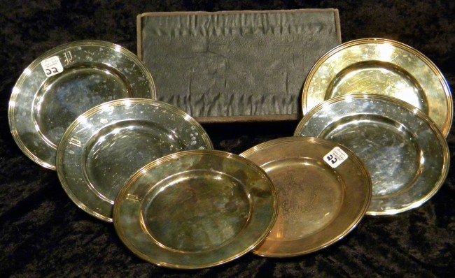 "6 Int'l Sterlng Silver Plates ""Lord Baybrook"""