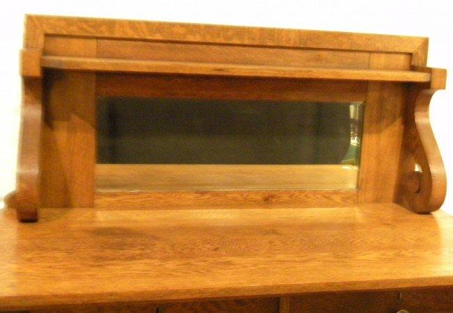 Quarter Sawn Oak Sideboard, Mirrored, Antique - 2