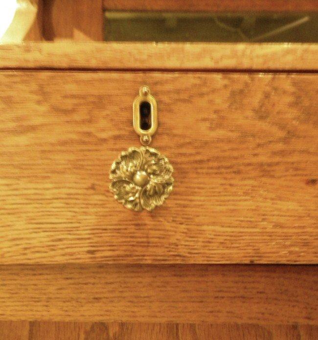 Quarter Sawn Oak Sideboard, Mirrored, Antique - 4